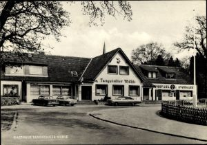 Ak Wedel Schleswig Holstein, Gasthaus Tangstedter Muhle, Außenansicht