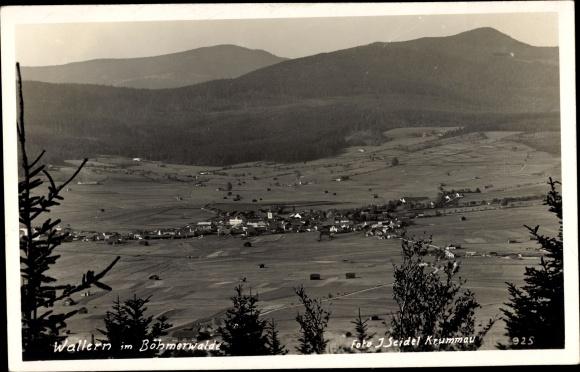 Foto Ak Volary Wallern Südböhmen, Böhmerwald, Tal, Siedlung, Panorama