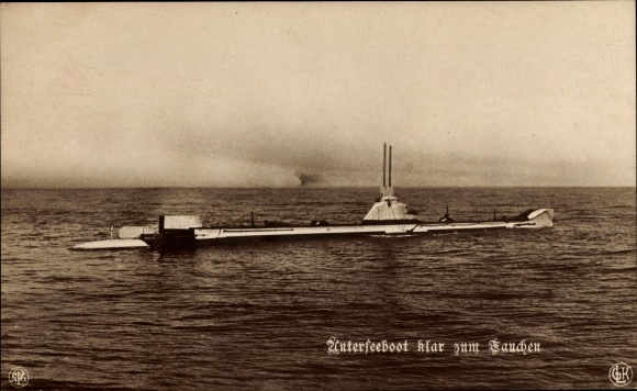 Ak Deutsches U Boot, Unterseeboot, Klar zum Tauchen, NPG