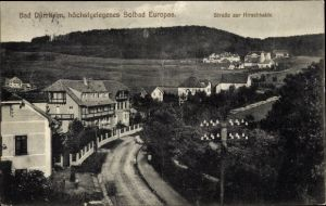 Ak Bad Dürrheim Baden Württemberg, Blick auf die Straße zur Hirschhalde
