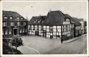 Ak Bösingfeld Extertal in Nordrhein Westfalen, Rathausplatz