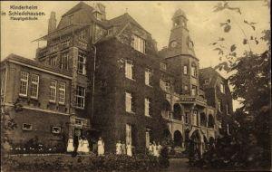 Ak Schledehausen Bissendorf in Niedersachsen, Kinderheim, Hauptgebäude, Schwestern