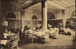 Ak Hansestadt Bremen, Innenansicht vom Trocadero im Cafe Riche