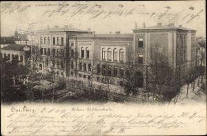 Ak Duisburg im Ruhrgebiet, Höhere Töchterschule, Außenansicht