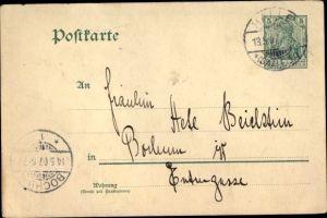Ganzsachen Ak Germania, 5 Pfenning, Deutsches Reich
