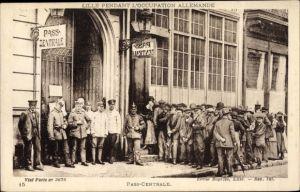 Ak Lille Nord, Pendant l'Occupation Allemande, Pass Centrale