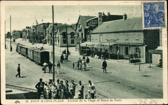 Ak Fort Mahon Plage Somme, Avenue de la Plage et Hôtel de Paris