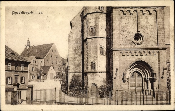 Ak Dippoldiswalde im Osterzgebirge, Kirche 0