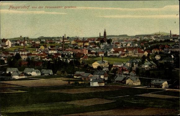 Ak Ebersbach Neugersdorf, Blick von der Felsenmühle aus 0