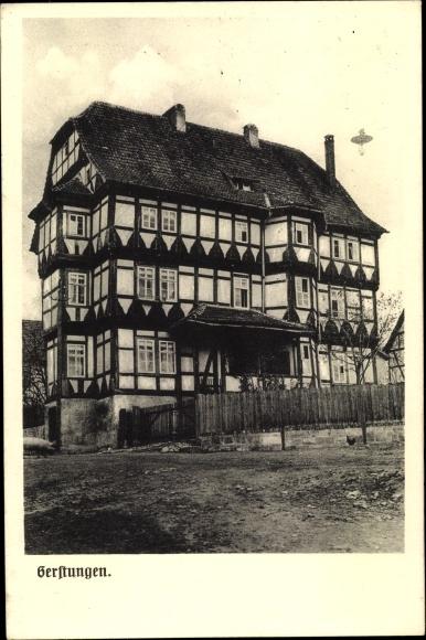 Ak Gerstungen in Thüringen, Fachwerkhaus, Außenansicht 0