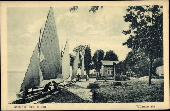 Ak Umgebung von Hagenburg am Steinhuder Meer, Wilhelmstein, Segelboote 0