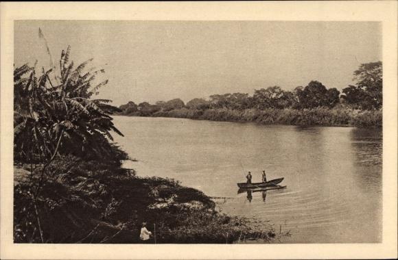 Ak Madagaskar, Sur la Mahajamba, Flusspartie, Ruderboot 0