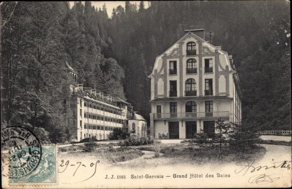 Ak Saint Gervais les Bains Haute Savoie, Grand Hôtel des Bains 0