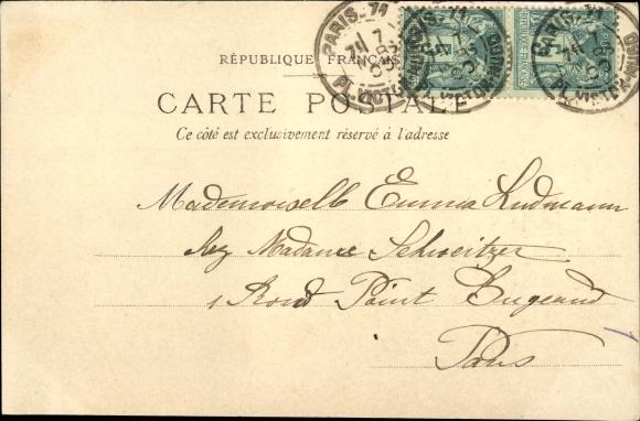 Ak Funérailles de Félix Faure 1899, Le Corbillard, Staatspräsident, Trauerzug 1