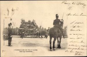 Ak Funérailles de Félix Faure 1899, Char de Couronnes, Staatspräsident, Trauerzug