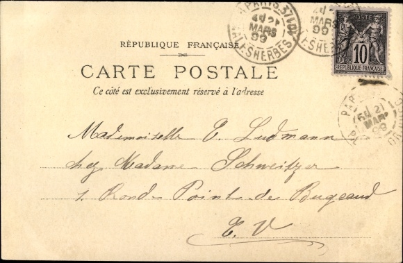 Ak Funérailles de Félix Faure 1899, Char de Couronnes, Staatspräsident, Trauerzug 1