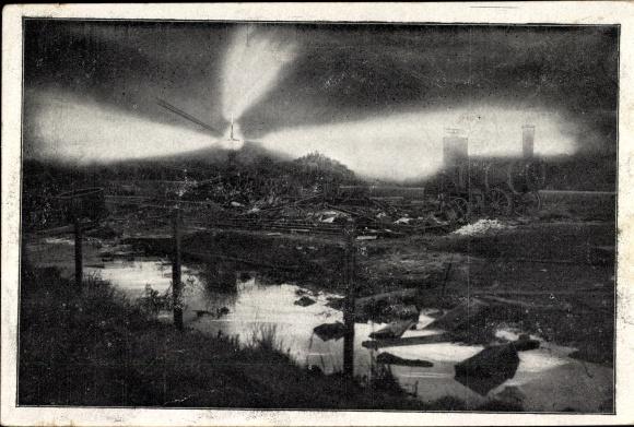 Ak Hamburg Bergedorf Neuengamme, Erdgasbrand bei Bohrungen 1910, Stichflamme 0