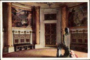 Ak Hamburg Mitte Altstadt, Rathaus, Saal der Republiken, Turmsaal, Büste des Präsidenten Ebert