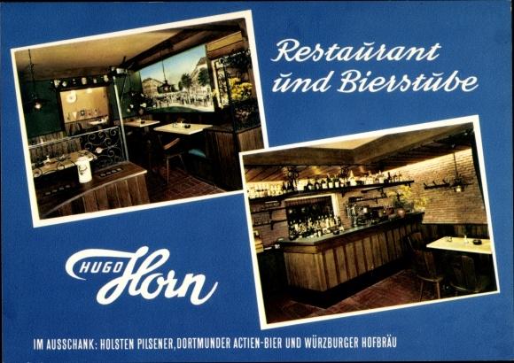 Ak Hamburg Mitte Altstadt, Restaurant und Bierstube Hugo Horn, Kolonnaden 49, Innenansichten 0