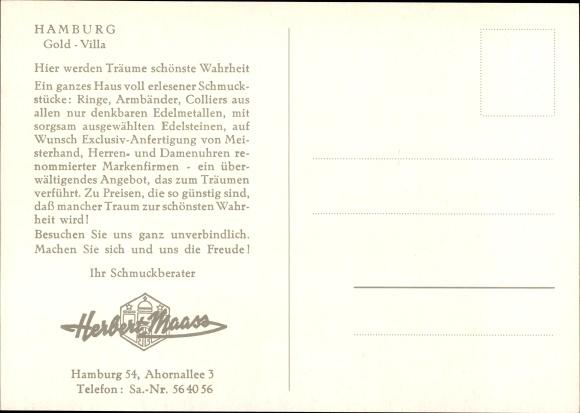 Ak Hamburg Eimsbüttel Lokstedt, Schmuckhandlung Gold Villa, Innenansicht, Ahornallee 3, Uhren 1