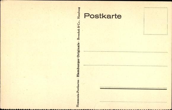 Künstler Ak Hamburg, Stadttyp Hummel, Wasserträger, lachender Junge, Windmühle 1