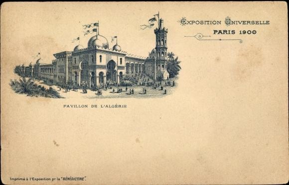 Litho Paris Frankreich, Exposition Universelle 1900, Pavillon de l'Algerie 0