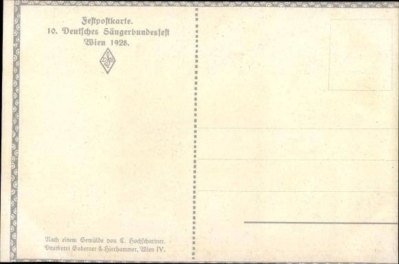 Künstler Ak Hochschartner, E., Friedrich List, Präsident des Dt. Sängerbundes, Sängerbundesfest 1928 1