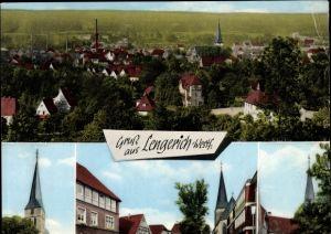 Ak Lengerich im Tecklenburger Land Westfalen, Totalansicht der Ortschaft, Römer, Kirche