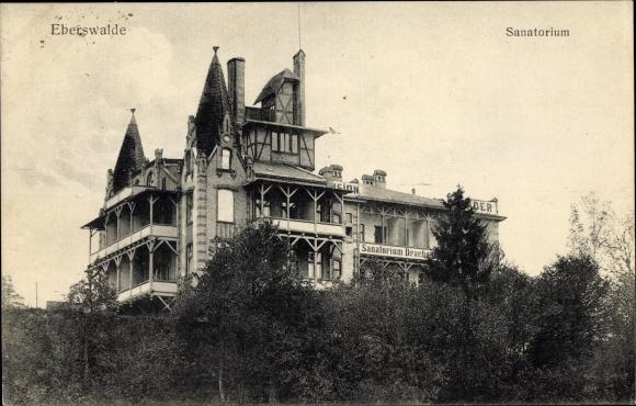 Ak Eberswalde in Brandenburg, Blick auf das Sanatorium 0