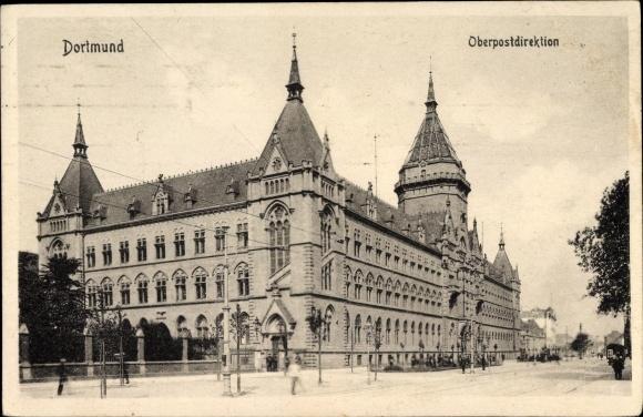 Ak Dortmund im Ruhrgebiet, Straßenpartie bei der Oberpostdirektion 0