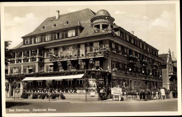 Ak Bad Dürrheim Baden Württemberg, Blick auf das Parkhotel Kreuz 0