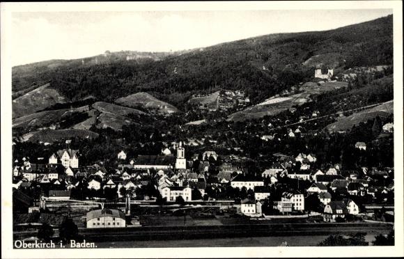 Ak Oberkirch in Baden Württemberg, Blick auf den Ort mit Umgebung 0
