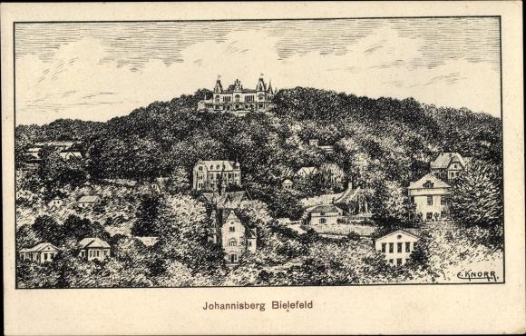 Künstler Ak Knorr, E., Bielefeld in Nordrhein Westfalen, Johannisberg, Panorama 0