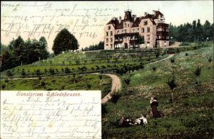 Ak Schledehausen Bissendorf in Niedersachsen, Sanatorium, Außenansicht, Parkanlagen