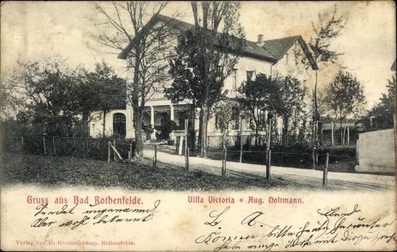 Ak Bad Rothenfelde am Teutoburger Wald, Villa Victoria, Inh. Aug. Holtmann 0