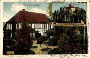 Ak Bad Iburg in Niedersachsen, Forsthaus Freudenthal, Schloss