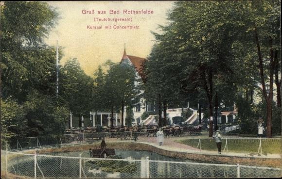 Ak Bad Rothenfelde am Teutoburger Wald, Kursaal mit Konzertplatz 0