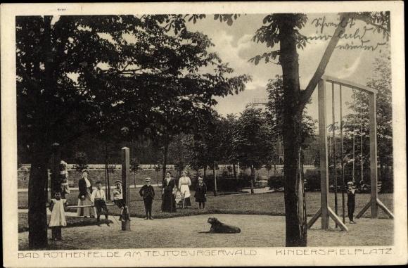 Ak Bad Rothenfelde am Teutoburger Wald, Blick auf den Kinderspielplatz 0
