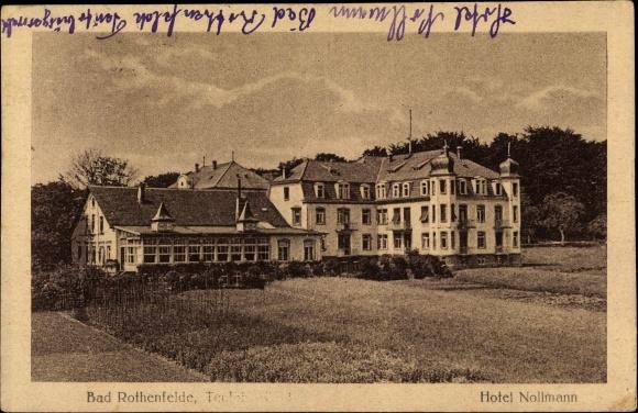 Ak Bad Rothenfelde am Teutoburger Wald, Blick über eine Wiese zum Hotel Nollmann 0