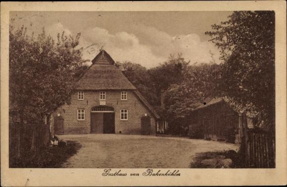 Ak Ganderkesee in Niedersachsen, Blick auf das Gasthaus von Bakenköhler 0