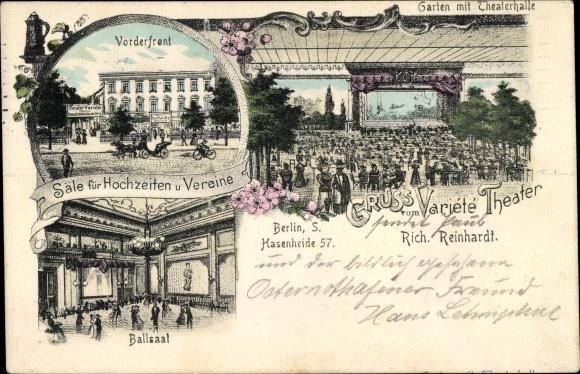 Litho Berlin Kreuzberg, Variété Theater, Inh. Richard Reinhardt, Hasenheide 57 0