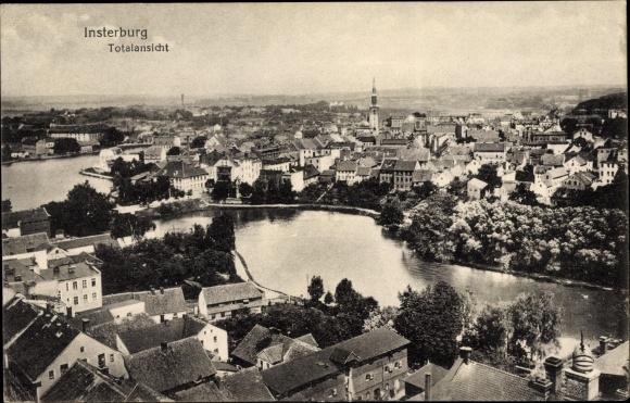 Ak Tschernjachowsk Insterburg Ostpreußen, Totalansicht vom Ort 0