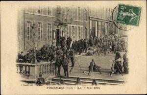 Ak Fourmies Trieux Nord, Le 1er Mai 1891. Fusillade de Fourmies