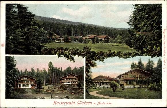 Ak Kladská Glatzen Mariánské Lázně Marienbad Reg. Karlsbad, Kaiserwald, Wohnhäuser am Waldrand 0