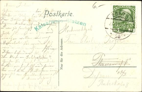 Ak Kladská Glatzen Mariánské Lázně Marienbad Reg. Karlsbad, Kaiserwald, Wohnhäuser am Waldrand 1