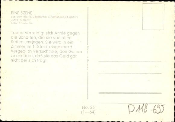 Ak Szene aus dem Film Unter Geiern, Banditen, Schauspieler, Rialto, Constantin, Karl May 1