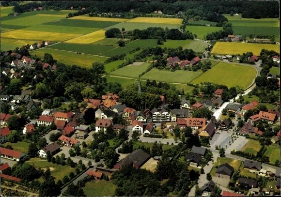 Ak Lienen im Tecklenburger Land, Totalansicht der Ortschaft mit Umgebung, Fliegeraufnahme 0