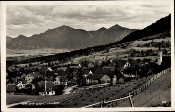 Ak Bad Kohlgrub in Oberbayern, Blick auf den Ort mit Umgebung 0