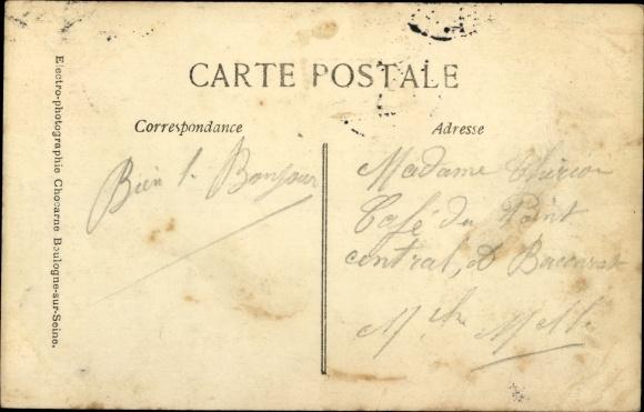 Ak Paris, Inondations Janvier 1910, Gare Saint Lazare envahie par les eaux 1