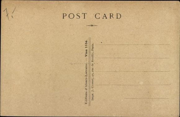 Elsass Karte Zum Ausdrucken.Ak Elsass Haut Rhin En Alsace Liberee Grande Place De Massevaux Revue Franco Americaine 1918